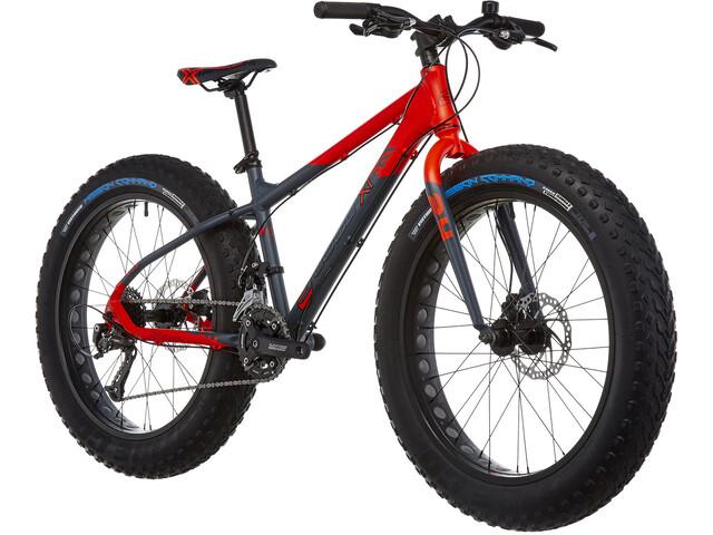 s'cool XTfat 24 18-S Børnecykel grå/rød (2019) | City-cykler